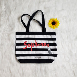 Sephora Striped Canvas Tote